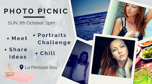 Photo Picnic – share ideas, chill, try portrait challenge + have fun!