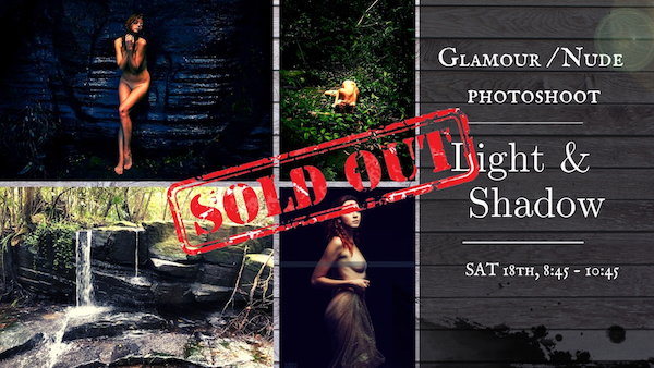 Light & Shadow – Glamour Nude Photoshoot in Forest and Waterfall