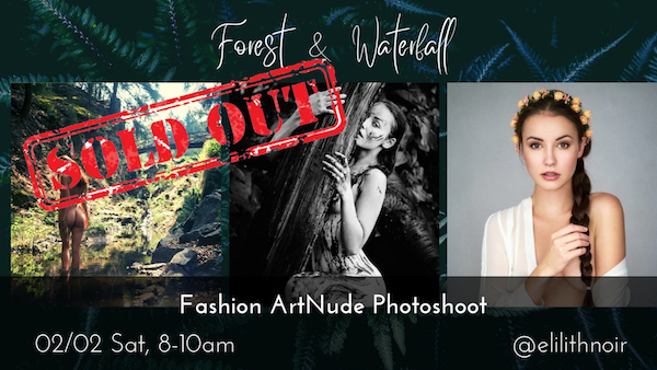 Waterfall & Forest – Fashion and Art Nude Photoshoot in nature with Elilith