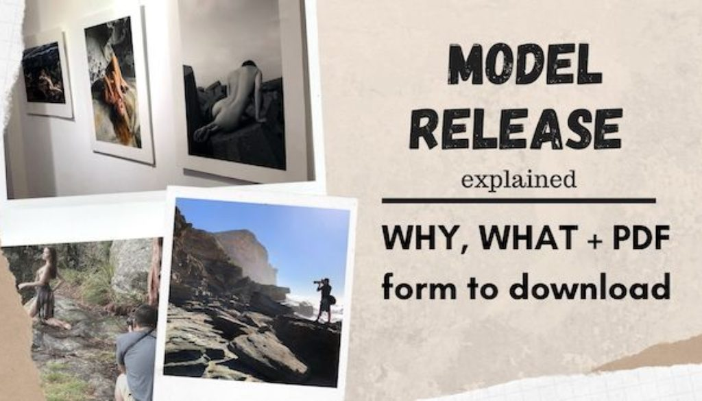 Model Release – why, what + PDF form to download